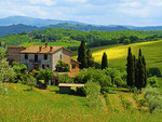 Farm house near Pienza in the Val d'Orcia region of Tuscany.