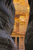 The Treasury viewed from the Siq at Petra.