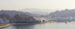 Muscat, Oman, panorama of waterfront.