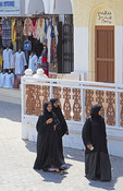 Muscat women shoppers in Old Town.