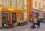 Gamla Stan (Old Town) Stockholm street.