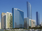 Abu Dhabi downtown high rises.