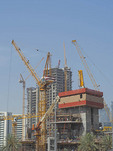 Construction ongoing everywhere in Dubai, United Arab Emirates.