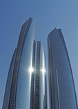 Etihad Towers, a luxury five-tower complex overlooking Arabian Gulf in Abu Dhabi.