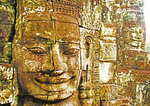 Faces of Bayon Temple, Siem Reap, Cambodia.  --Digital photo art painting