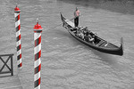 Venice gondolier.  --Digital Photo Art