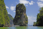 James Bond Island (Ko Khao Phing Kan) in Ao Phang Nga National Park, Phi Phi Islands near Phuket, Thailand.