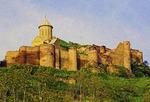 Narikala Castle at Tbilisi, Republic of Georgia.  --Digital Photo Art Painting