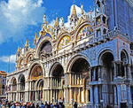 Saint Mark's Basilica in Venice, Italy.  --Digital Photo Art Painting