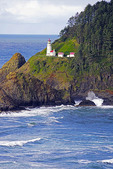 Heceta Head Lighthouse Bed & Breakfast and State Park, Oregon.