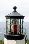 Cape Meares Lighthouse beacon on Three Capes Scenic Byway, Oregon.
