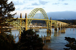 Yaquina Bay Bridge at Newport, Oregon.