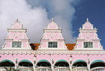 Dutch Caribbean architecture in downtown Oranjestad on island of Aruba.