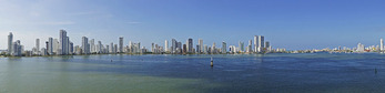 Cartagena panoramic skyline.