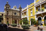 Plaza San Pedro Claver in Old Town Cartagena.