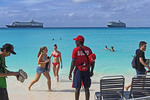 Holland America Line private Half Moon Lagoon Water Park (Club HAL) exclusive for their cruise ship passengers in the Bahamas.