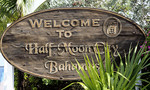 Half Moon Cay in the Bahamas welcome sign.