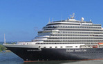 Holland America Line cruise ship Nieuw Amsterdam at Port Everglades, Florida.