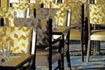 New chairs in Lido Market dining room on Holland america Line's Zuiderdam crusie ship.