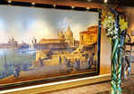 Mural of Venice on Holland America Line's Zuiderdam cruise ship.