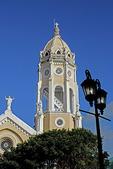 Panama City's San Francisco de Asis Church in Casco Viejo, old historic quarter.