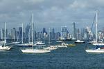 Panama City skyline from harbor.