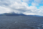 Mountain peaks along the Beagle Channel in far south Argentina.