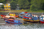 Fishing boats at Puerto Montt, Chile.