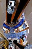Atrium elevators in the Norwegian Sun cruise ship.