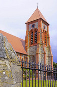 Christ Church Cathedral in Port Stanley, The Falkland Islands (Malvinas).