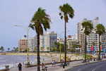 High rise buildings along Playa Pocitos in Montevideo, Uruguay.