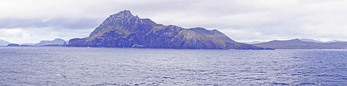 Panoramic of Cape Horn, southernmost tip of South America.