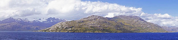 Strait of Magellan panorama from cruise ship Norwegian Sun.