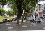 Open public space in downtown Montevideo, Uruguay.