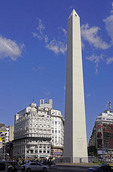 Obelisk of Buenos Aires on Avenue 9 July.