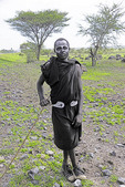 Maasai youth circumsized upon reaching adulthood in village near Ngorongoro Crater.