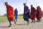 Maasai dancing at their village near Ngorongoro Crater in Tanzania.