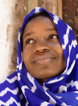 Young Muslim woman in Zanzibar's Stone Town.