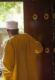 Hotel doorman in Zanzibar's Stone Town.