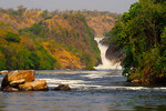Murchison Falls on the Victoria Nile River in Uganda.