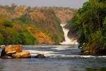 Murchison Falls on the Victoria Nile River in Uganda.