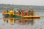 Ferry across Victoria Nile in Murchison Falls National Park in Uganda.