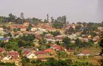 Suburban housing in Kampala, Uganda.