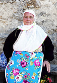 Portrait of elderly grandmother in village of Ribnovo, Bulgaria.