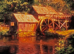 Mabry Mill on Blue Ridge Parkway.  --Digital Photo Art Painting