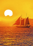 Schooner on sunset cruise in the Florida Keys.  --Digital Photo Art Painting