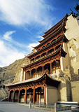 Mogao Grottoes cave-temple complex on the Silk Road, Dunhuang, Gansu, China
