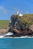 Lighthouse at Taiaroa Head on Otago Peninsula, Dunedin, New Zealand.