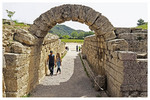 Arch entrance to tunnel to The Stadium athletic field at Olympia, Greece.