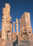 Gateway to palace of Xerxes, Gate of All Nations, at ruins of Persian capital, Persepolis, in Iran.